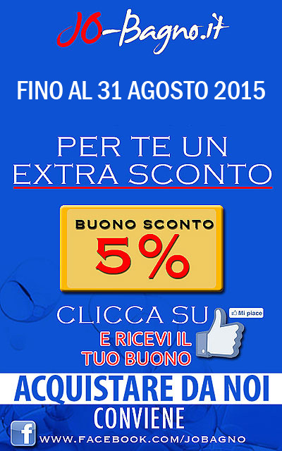 Codice Coupon da reperire su www.jo-bagno.it